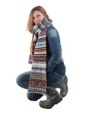 Fair Isle Long Scarf